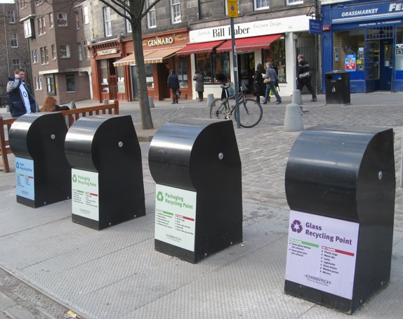 Grassmarket recycling bins